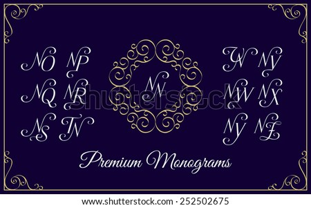 vintage monogram design