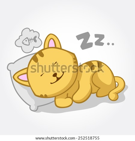 this is a cat cartoon vector