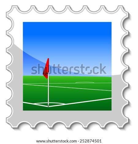 corner kick postage stamp