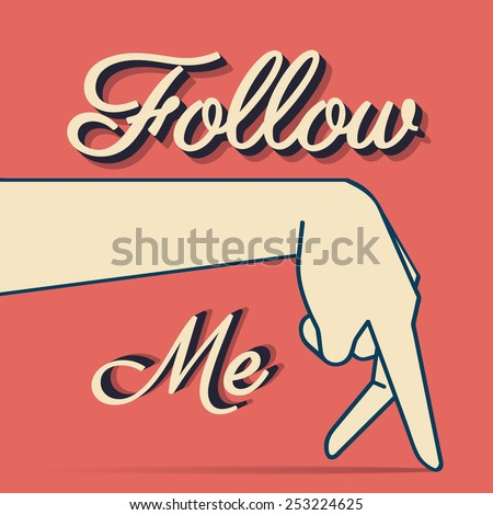 follow me typography t shirt