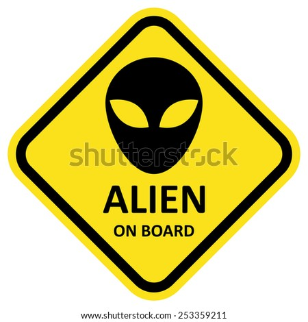 vector sign alien on board