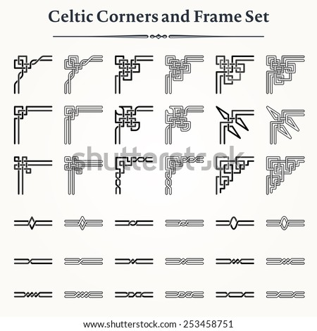 stock-vector-set-of-celtic-corners-and-frames