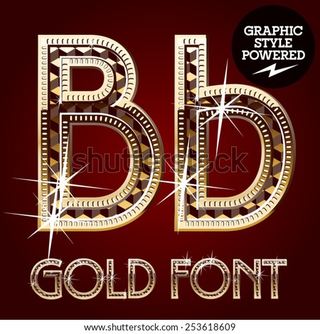 vector set of gold rich