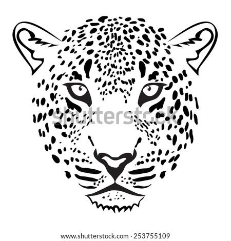 leopard head illustration