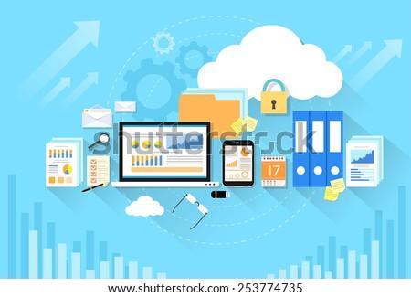 computer device data cloud