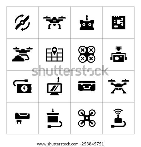 set icons of quadrocopter