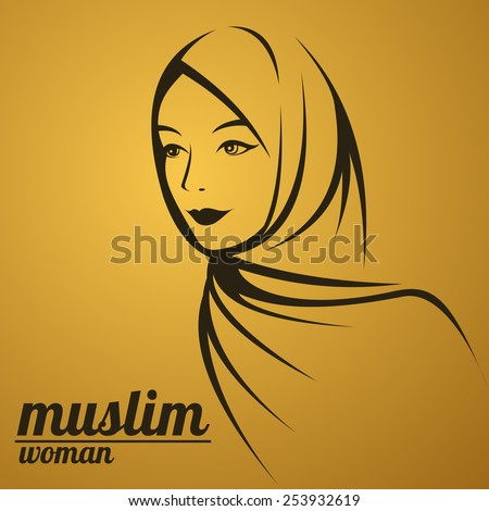 beautiful face of arabic muslim