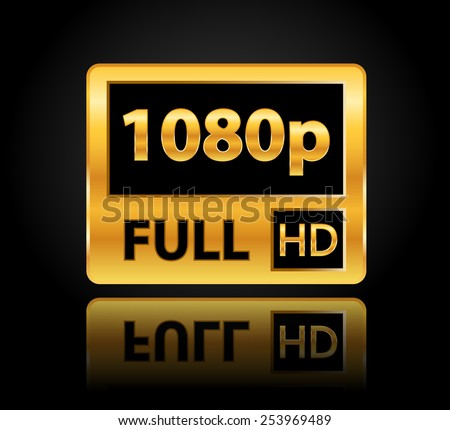 1080p full hd sign with