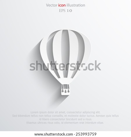 vector hot air balloon web flat