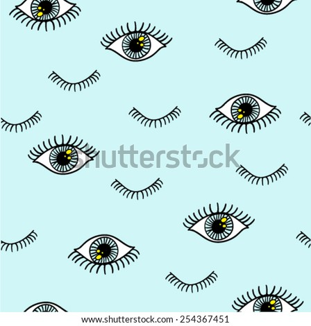 eye pattern with eyelash in