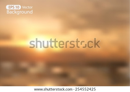 blurred sunset nature