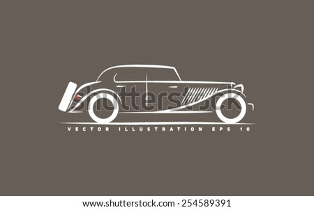 stylized retro car