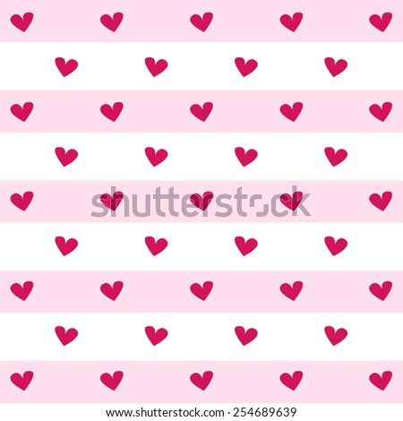 pink heart on pink and white