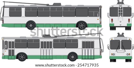 russian trolleybus vector figure