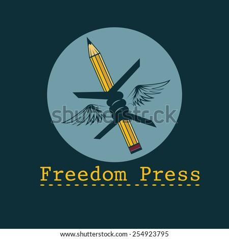 freedom press concept vector