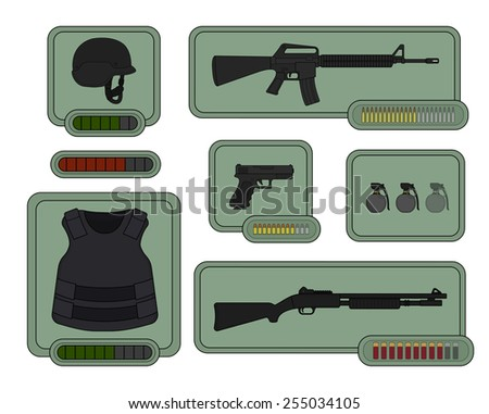 military weapons icons game