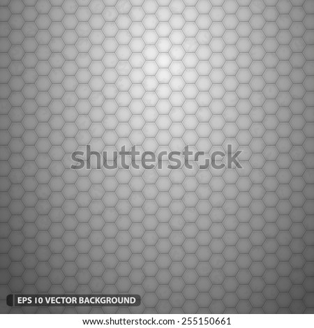 illuminated white hexagon grid