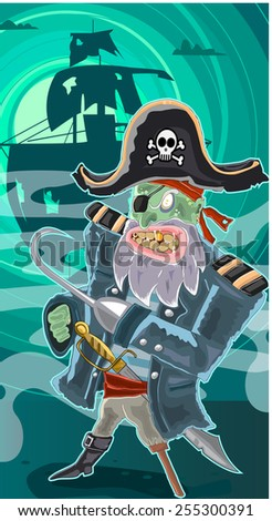 zombie pirate illustration