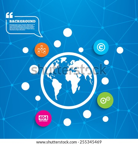 abstract world globe website