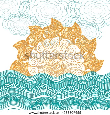 sea and sun nature pattern