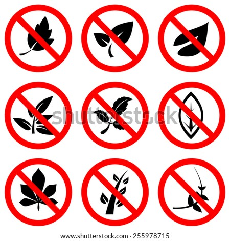 sign no trees vector