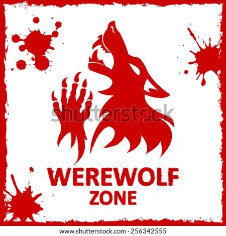 vector poster werewolf zone