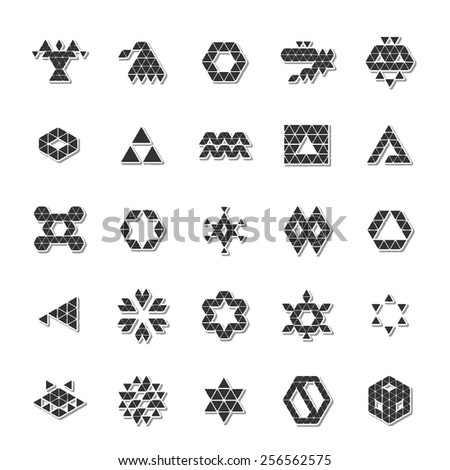 abstract polygonal icon set 2