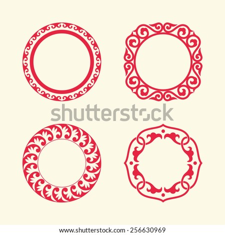circle frames of chinese style
