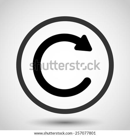 undo vector icon   black