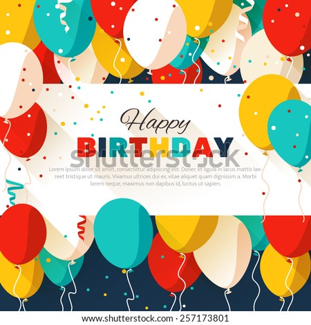 colorful happy birthday banner