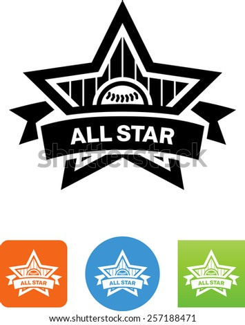 baseball all star logo vector