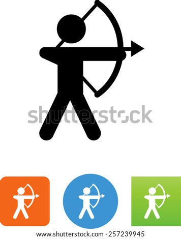 person holding a bow symbol for