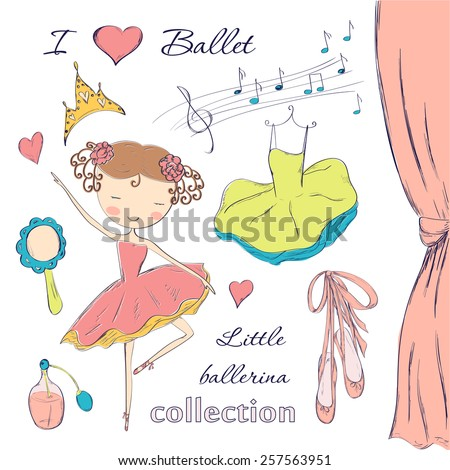 hand drawn ballerina and