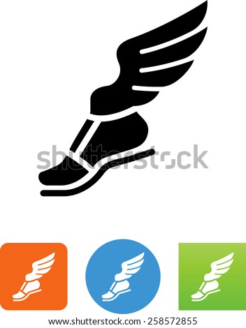 foot with wings symbol for