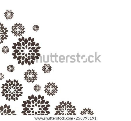 flower black background