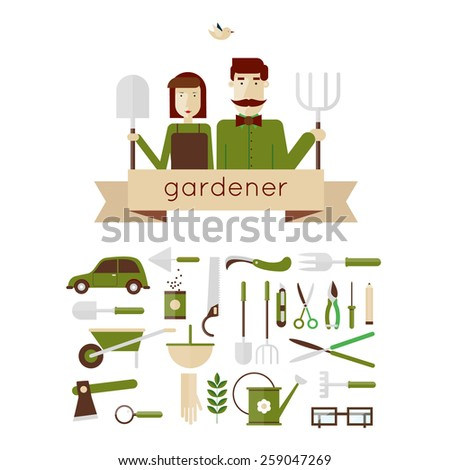 man and woman gardeners and