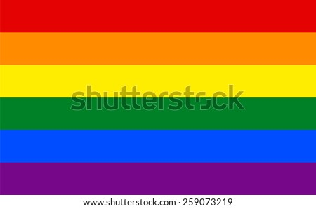 six color rainbow flag or gay