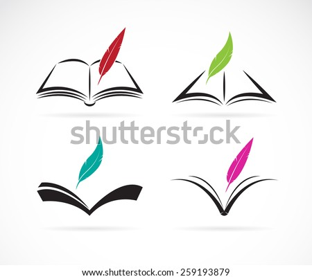 vector image of an book and