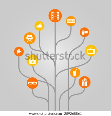 abstract icon tree illustration