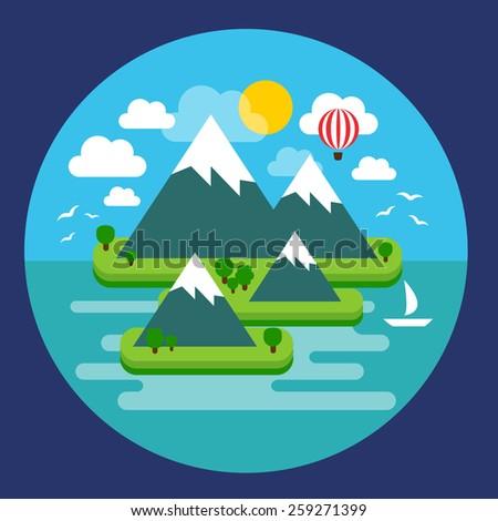 vector illustration of a summer