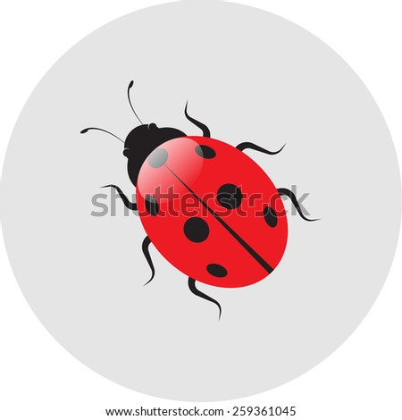 ladybird label icon