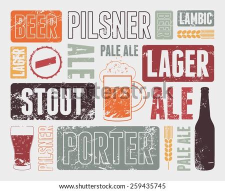 typographic retro grunge beer