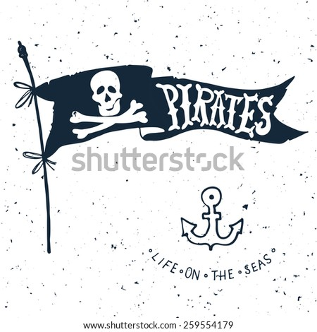 jolly roger hand drawn