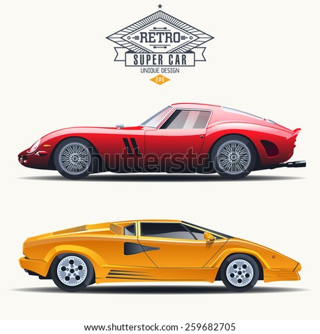 super car retro design concept