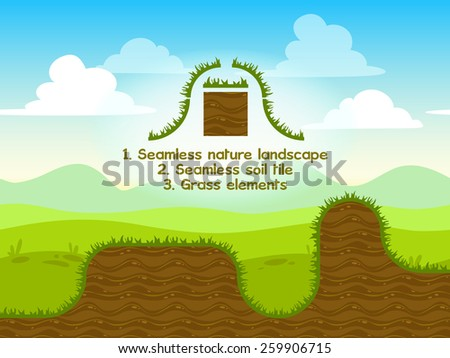seamless nature landscape with
