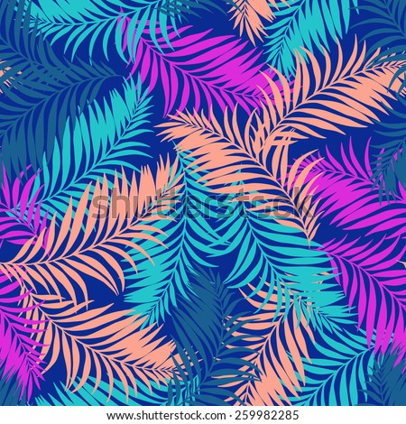 seamless vector palm pattern