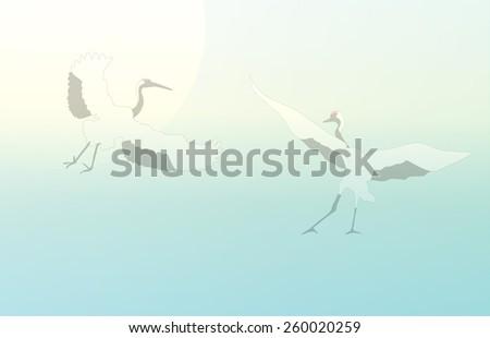 japanese crane  vector
