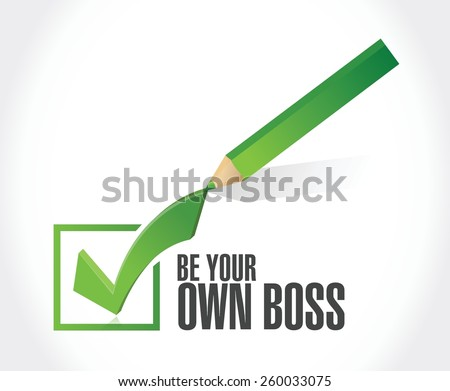 be your own boss check mark