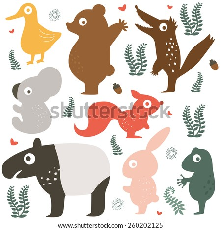 cute animalsillustration