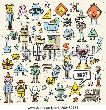 cartoon wacky childish colorful